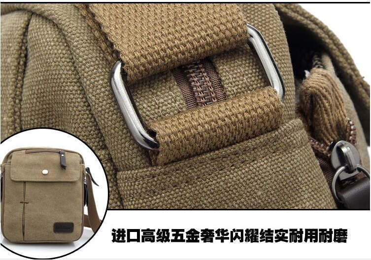 Charm canvas bags 2015 men's travel bag canvas men messenger bag brand mini size men's bag luxary vintage style briefcase w304