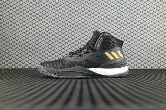 sports shoes 192f0 a0e5d adidas D Ross 8.0 CQ1618 Black Gold Metallic 4058024177167 adidas  Basketball Shoe For Sale