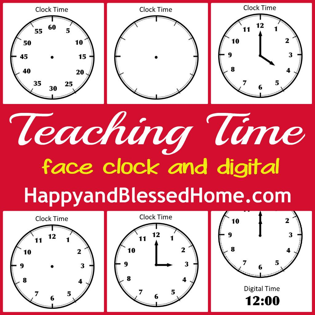 Tell Time Preschool Learning Happy And Blessed Home Preschool Learning Teaching Time Teaching [ 1024 x 1024 Pixel ]