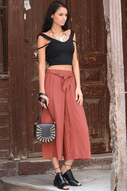 4196e954674 BSL Fashion - Pantalon BSL-7793 - Rosu