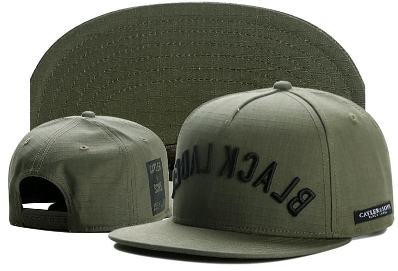 98c742beb26 Men s Cayler   Sons Black Label Black Arch Snapback Hat - Olive   Black