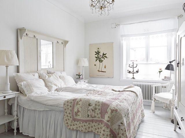 shabby schlafzimmer weiß garderobe betthaupt | schöner schlafen ... - Schlafzimmer In Weiß