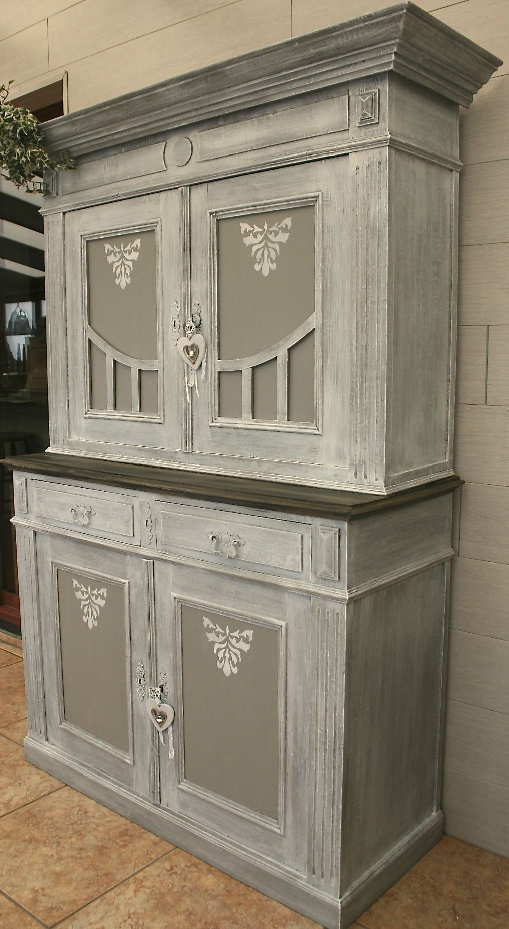 Meuble Robuste Ancien Double Corps Patine Mobilier De Salon Relooking Meuble Relooking Meuble Ancien