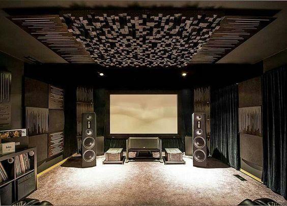 Listening and movie room inspiration sala pannelli acustici studio - Studio di registrazione in casa ...