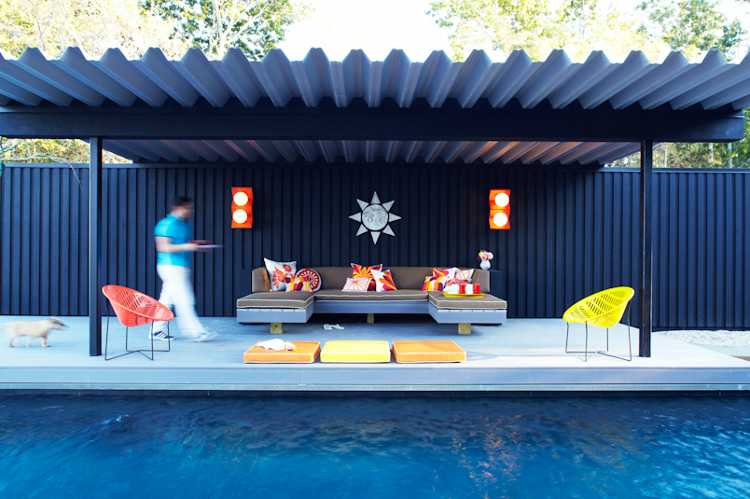 modern pool, chill space, cool patio cover Modern pools