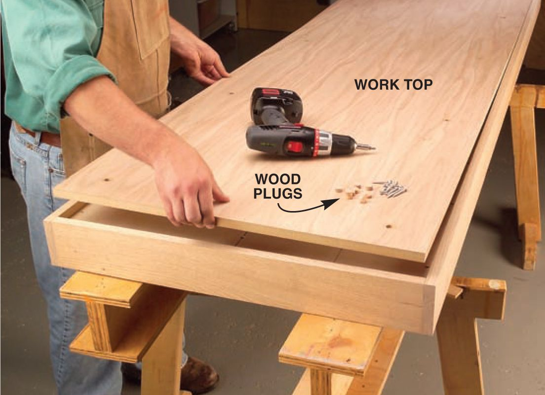 aw extra - torsion-box workbench and expandable assembly table