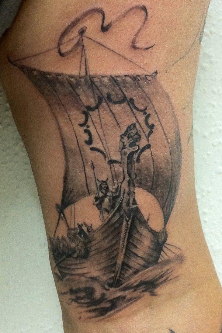 Drakkar Tatouage Viking Tattoo Avant Bras Tatouage Manche Viking