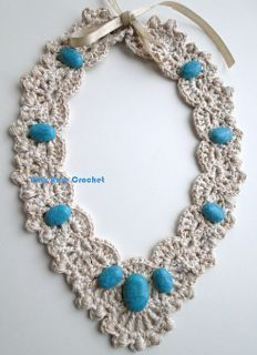 \ PINK ROSE CROCHET /: Colar Amina - Crochet Collar Necklace