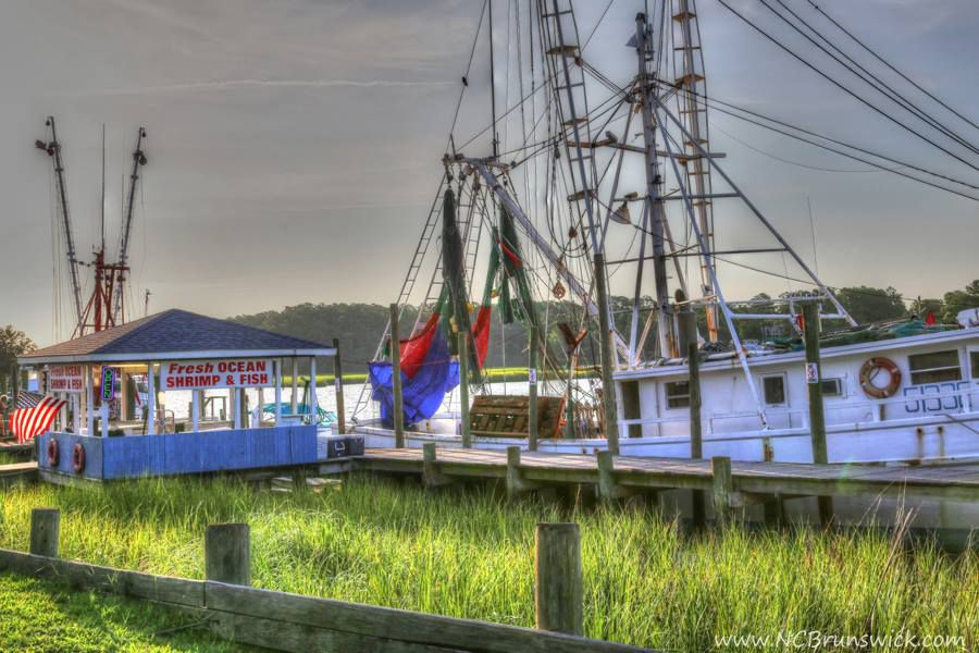 Early morning on the Calabash waterfront    NC in 2019