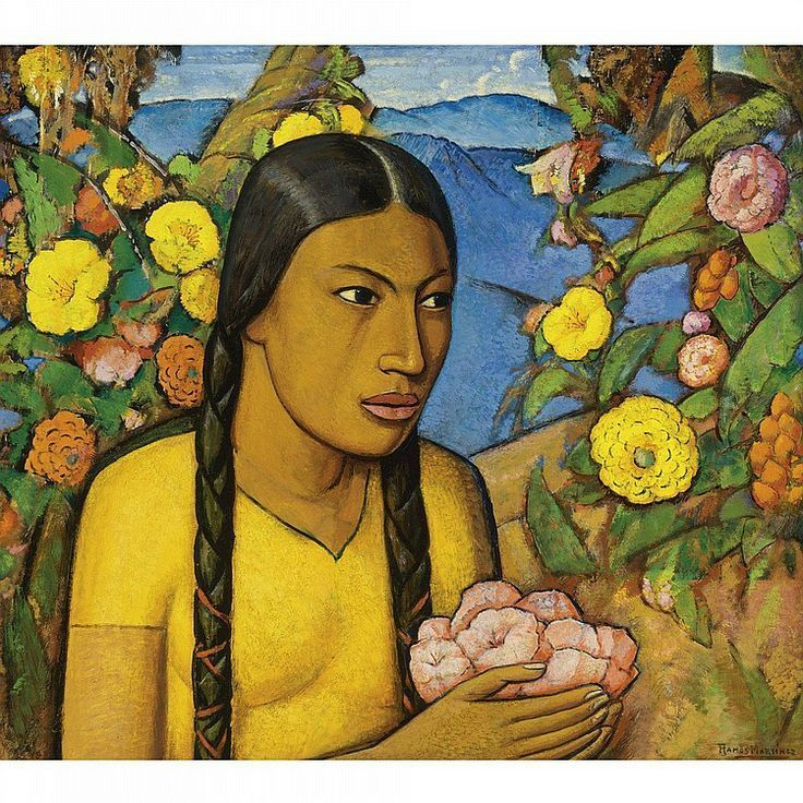 The Fruit Vendors  by Alfredo Martinez  Giclee Canvas Print Repro