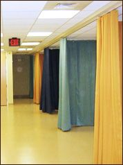We Developed A Special Quiet Hospital Cubicle Curtains To Increase Patient Privacy Curtains Massage Room Hospital Curtains