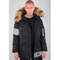 Autumn jackets for women -  Alpha Industries N-3B Reflective Stripes Jacket Black L Alpha Industries Inc.Alpha Industries Inc.  - #AngelinaJolie #autumn #CelebrityStyle #HollywoodActresses #jackets #women