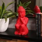 Urban Trends Collection 13 in. H Buddha Decorative Figurine in Red Gloss Finish #buddhadecor