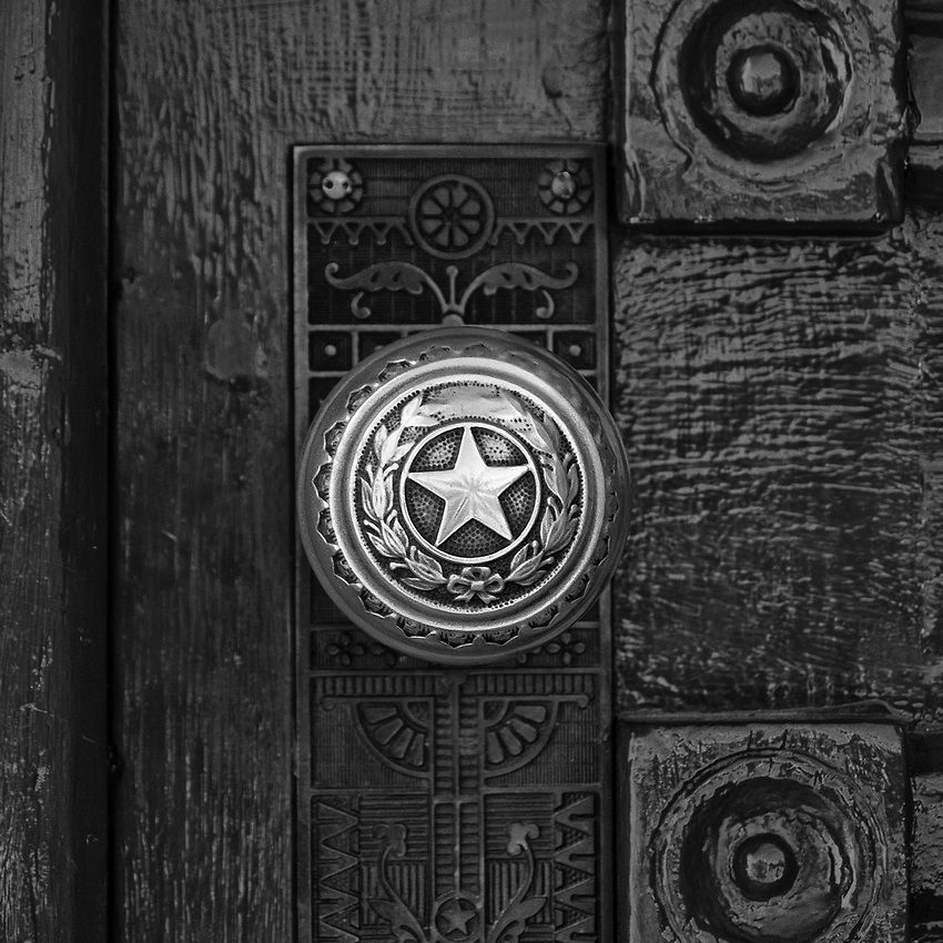 Brass Door Knob on Texas State Capitol Building, 2007. This is one ...