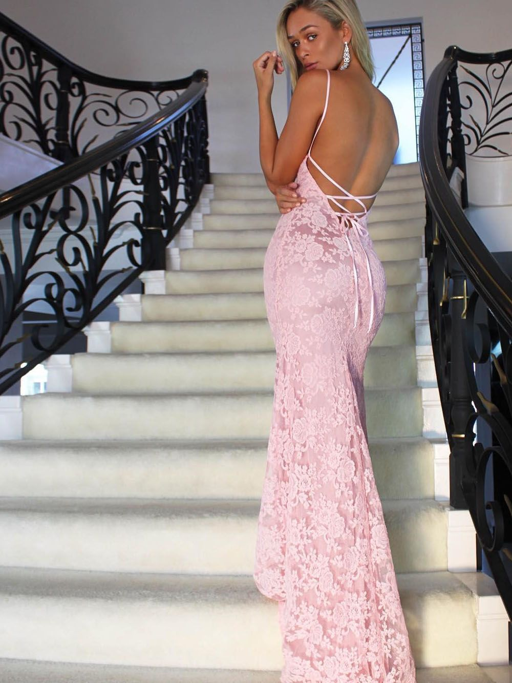 Mermaid lace prom dresses prom dress sweet prom dresses