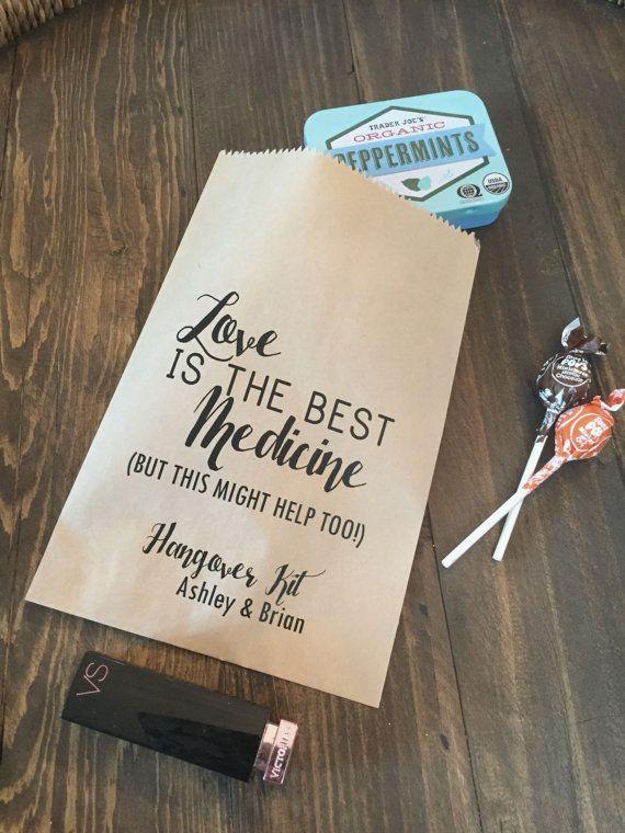 Wedding Hangover Kit Bags! - Love is the Best Medicine - Favor Bags ...