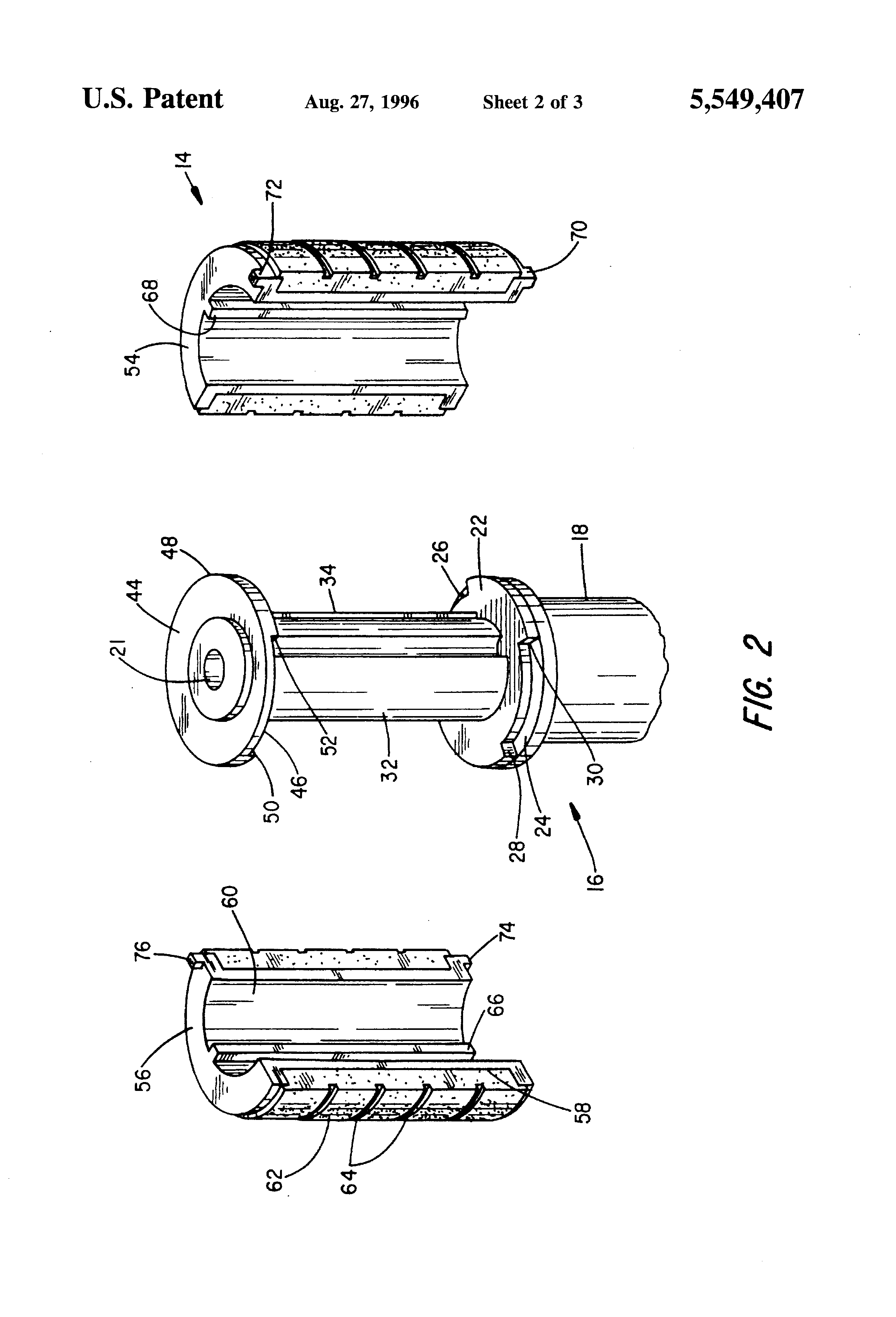 patent us5549407 locking mechanism for telescoping tubular poles [ 2320 x 3408 Pixel ]