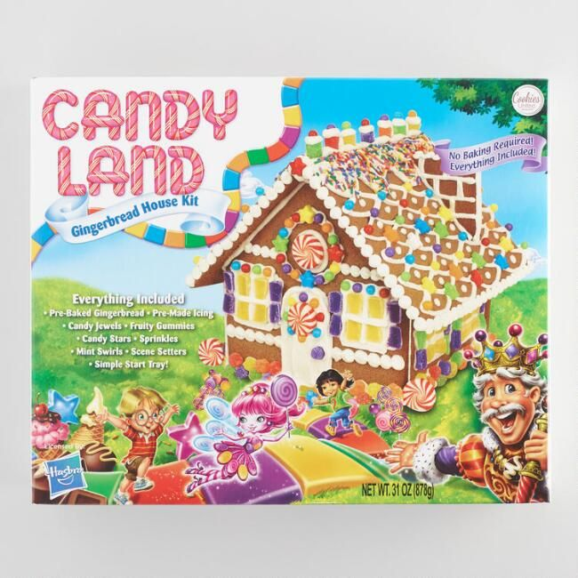 Candyland Gingerbread House Kit With Images Gingerbread House Kits Christmas Gingerbread House Gingerbread House