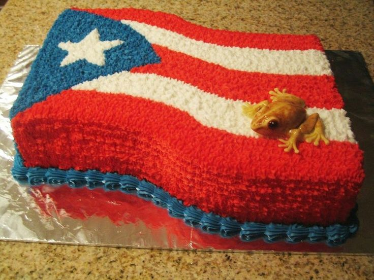 rican food | Puerto Rican flag cake! | FOOD!!