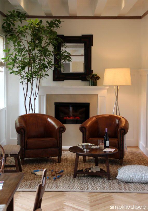 San Francisco Decorator Showcase 2013 Master Sitting: Kitchen Sitting Area With Fireplace // San Francisco