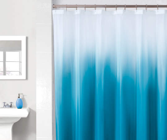 Just Home Blue White Ombre Peva Shower Curtain With Images