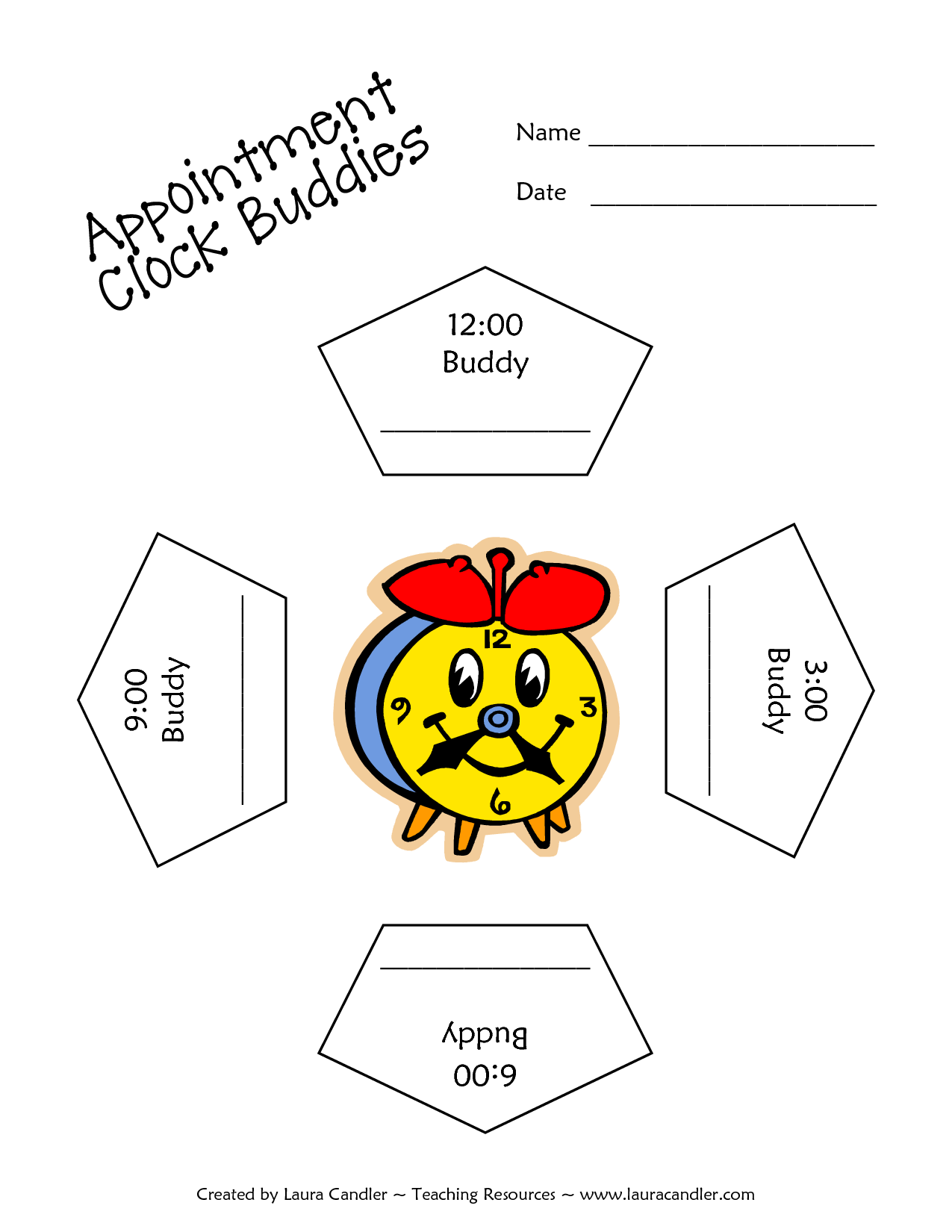 Clock Bud S Graphic Organizer Graphic Organizer Appointment Clock Clock Bud S