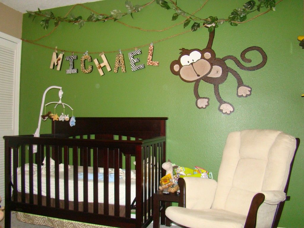 Green baby boy room decor - Michael S Jungle Baby Room Project Nursery