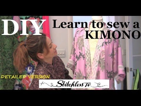 NEW How to make a kimono with lace inserts - YouTube
