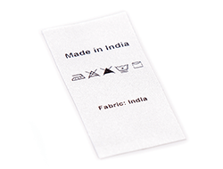 Made In India Care Clothing Label