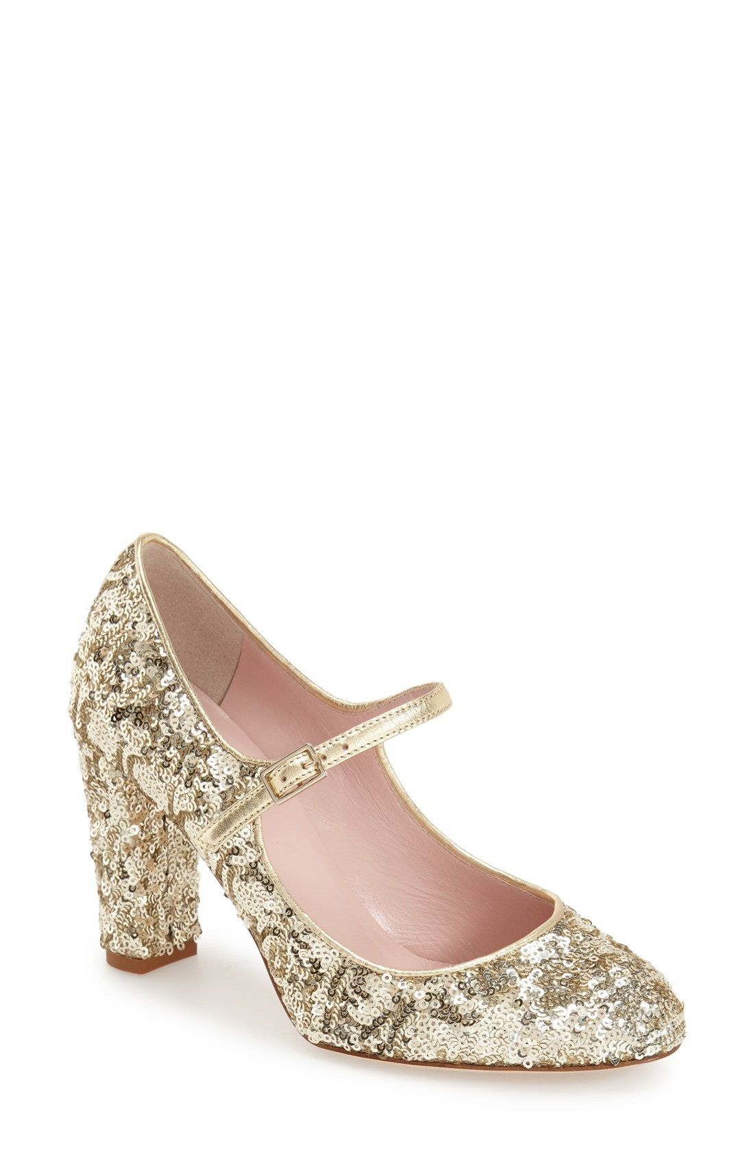 3ea8763be866 kate spade new york  angelique  mary jane pump (Women) Gold glitter wow!