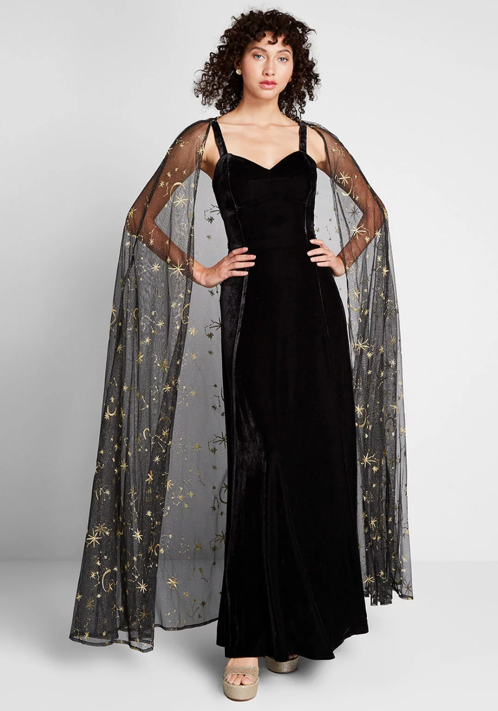 Celestial Occasion Velvet Maxi Dress