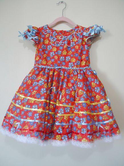 Vestido festa junina + tiara 006