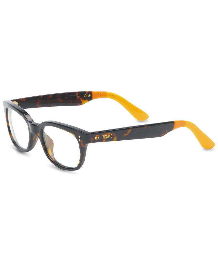 The TOMS Lyndi glasses may look like a basic tortoise frame 5631c8c113c9