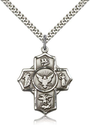 DiamondJewelryNY Sterling Silver Cross Pendant