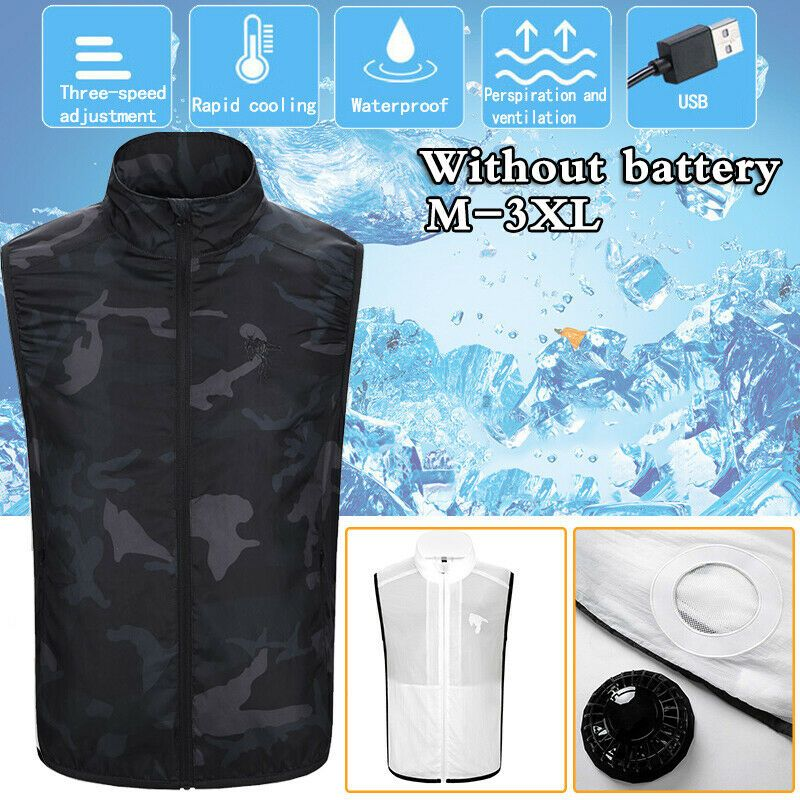 Usb Air Conditioning Clothes Cooling Conditioned Fan Staff Working