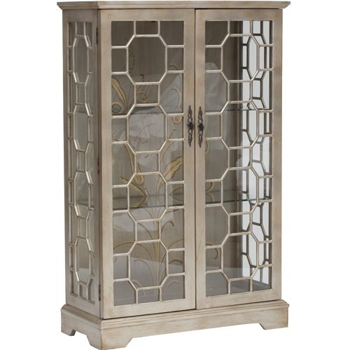 Curio Cabinet 2 Door Metallic 699 00 From High Fashion Home Glitzy Two Door Curio Display Curio Cabinet Small Curio Cabinet Modern Dining Table