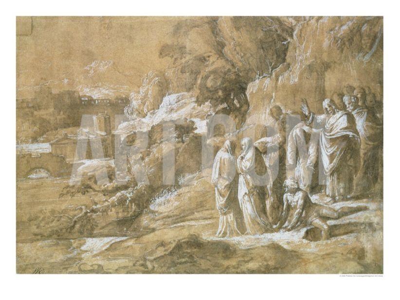 The Raising of Lazarus Giclee Print by Polidoro da Caravaggio at Art ...