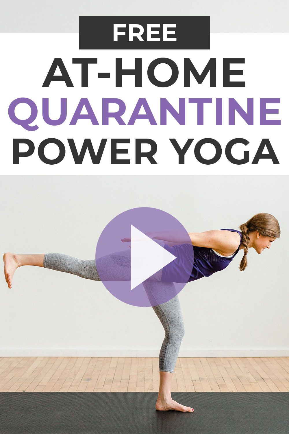 Stuck at home? Sweat + tone with this free guided Yoga Sculpt Workout Video! All you need is your bodyweight and fifteen minutes!
