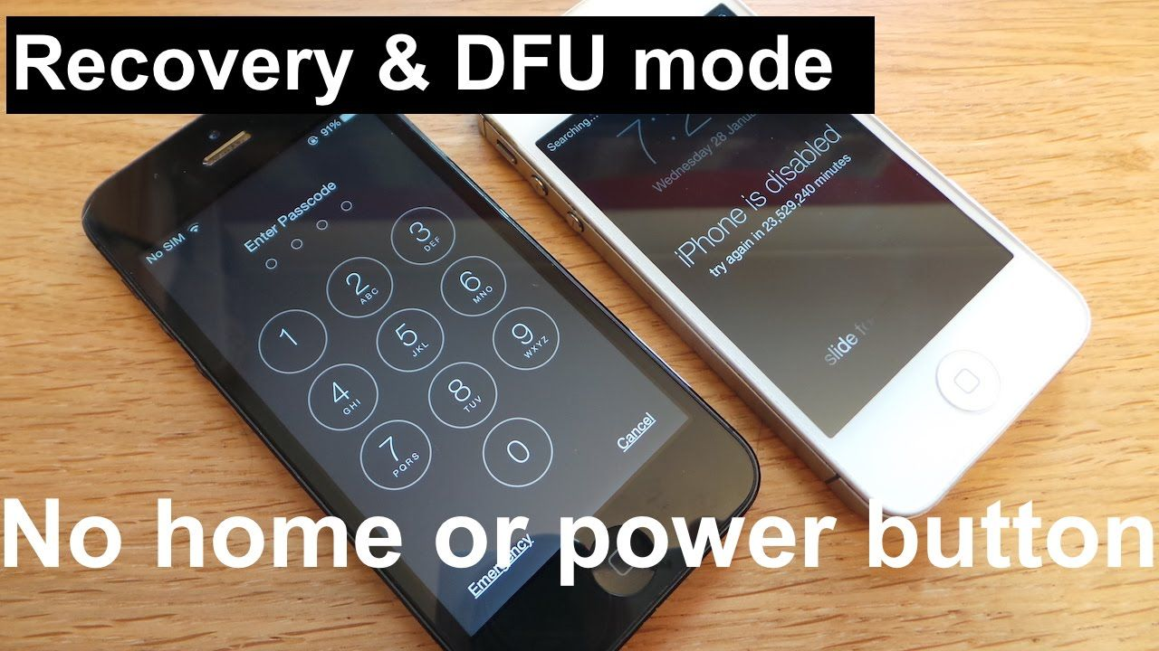 How To Enter Recovery Dfu Mode Without Home Power Button Iphone