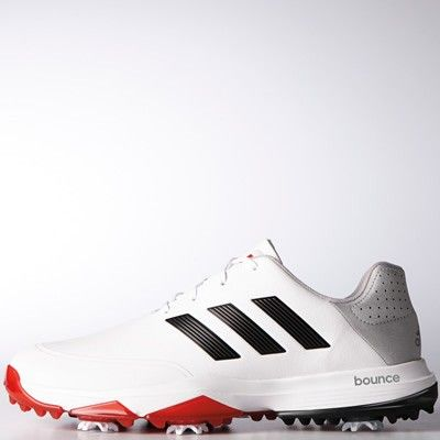 Adidas Powerband Boa Boost Wide White Core Black Scarlett Golf