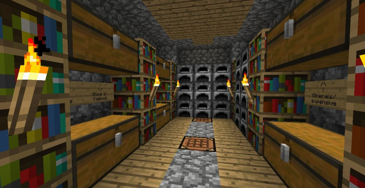 Storage Room Idea Minecraft Project