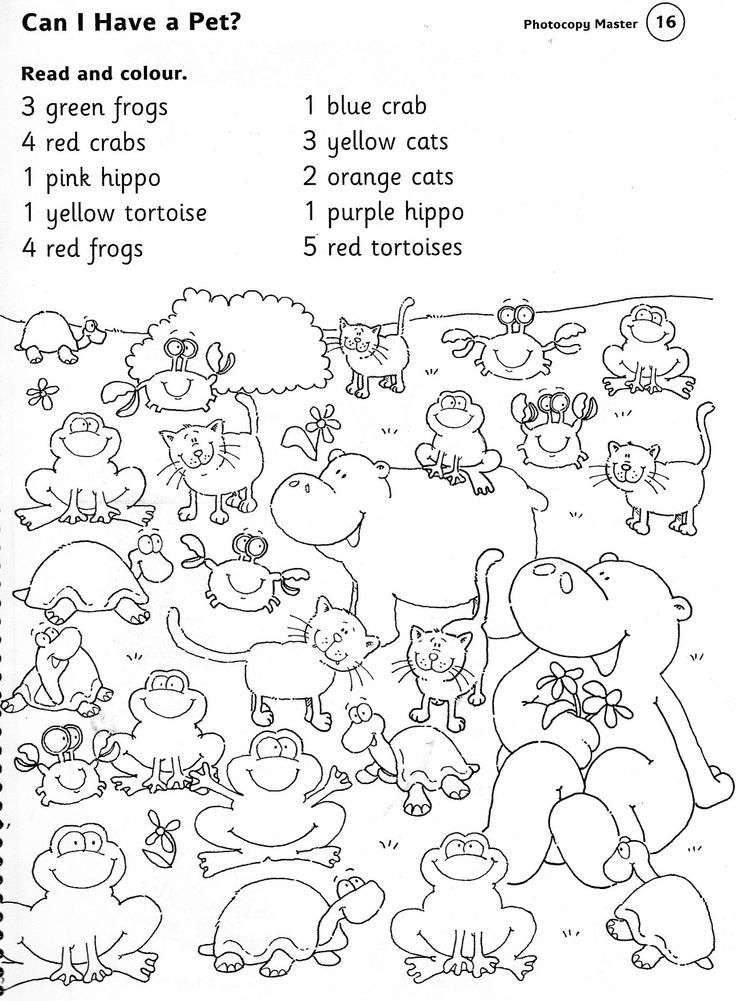 zoo worksheets ANIMALS WORKSHEETS read and colour – Animals Worksheet for Kindergarten