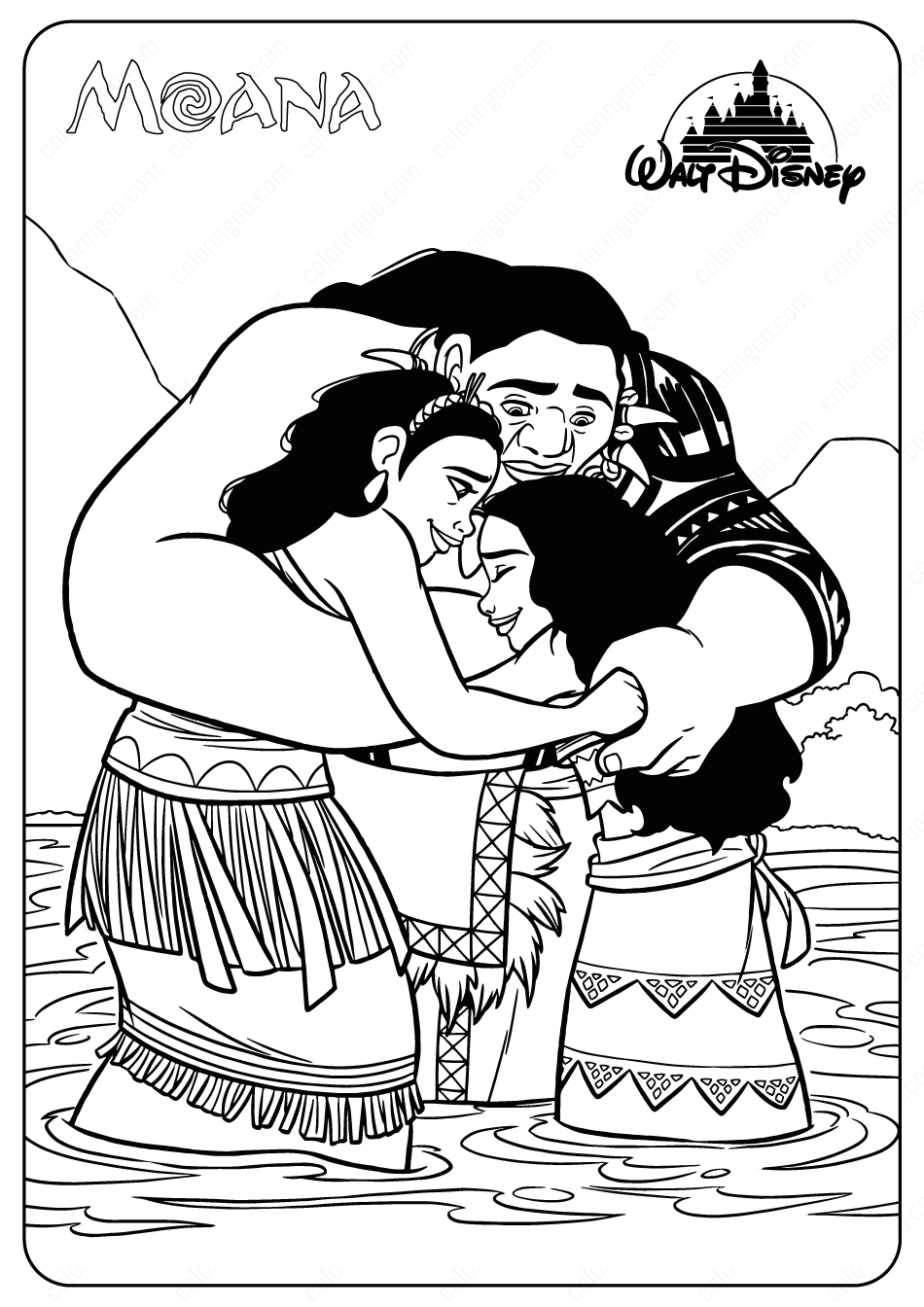 Moana And Her Family Coloring Page Moana Coloring Pages Moana Coloring Disney Princess Coloring Pages [ 1344 x 950 Pixel ]