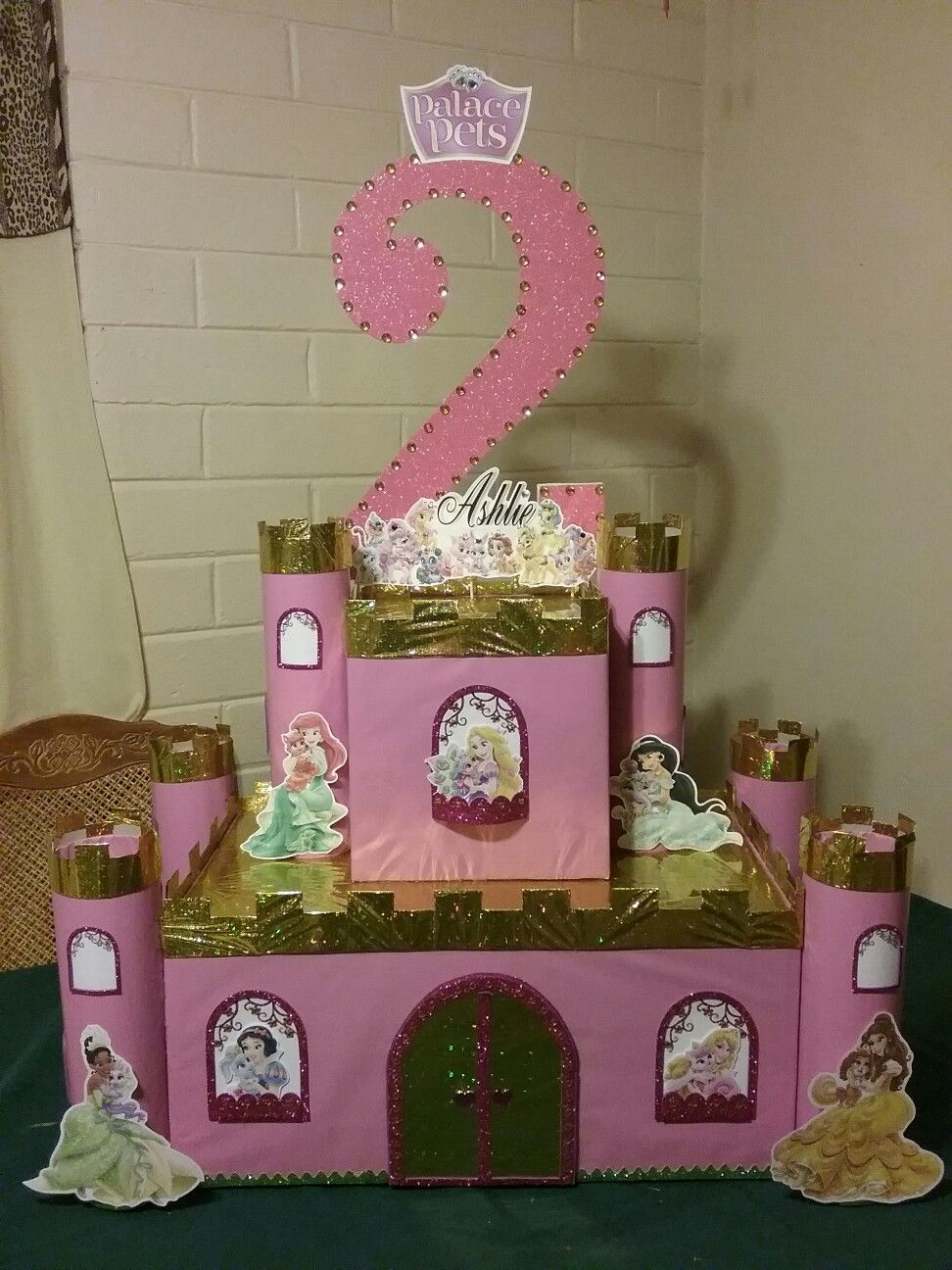Disney Princess And Palace Pets Castle Centerpiece For Head Table Candyland Party Disney Princess Party Candy Castle
