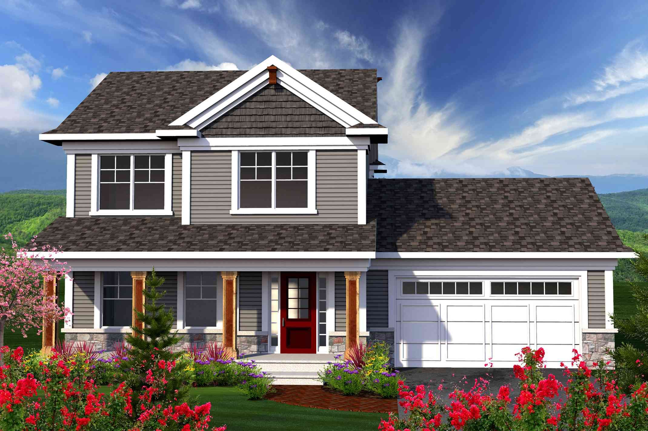Plan 89906ah 2 Story Home With Large Front Porch Ranch Style House Plans Craftsman House Plans Craftsman House