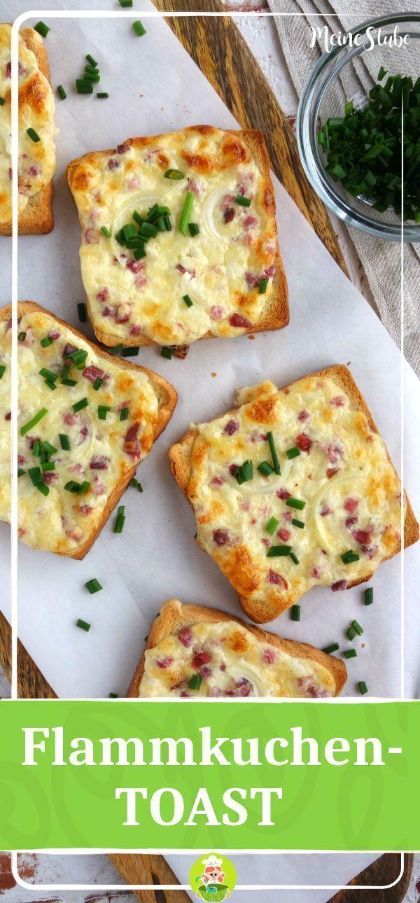 Flammkuchen Toast mit Speck und Zwiebeln - Meine Stube