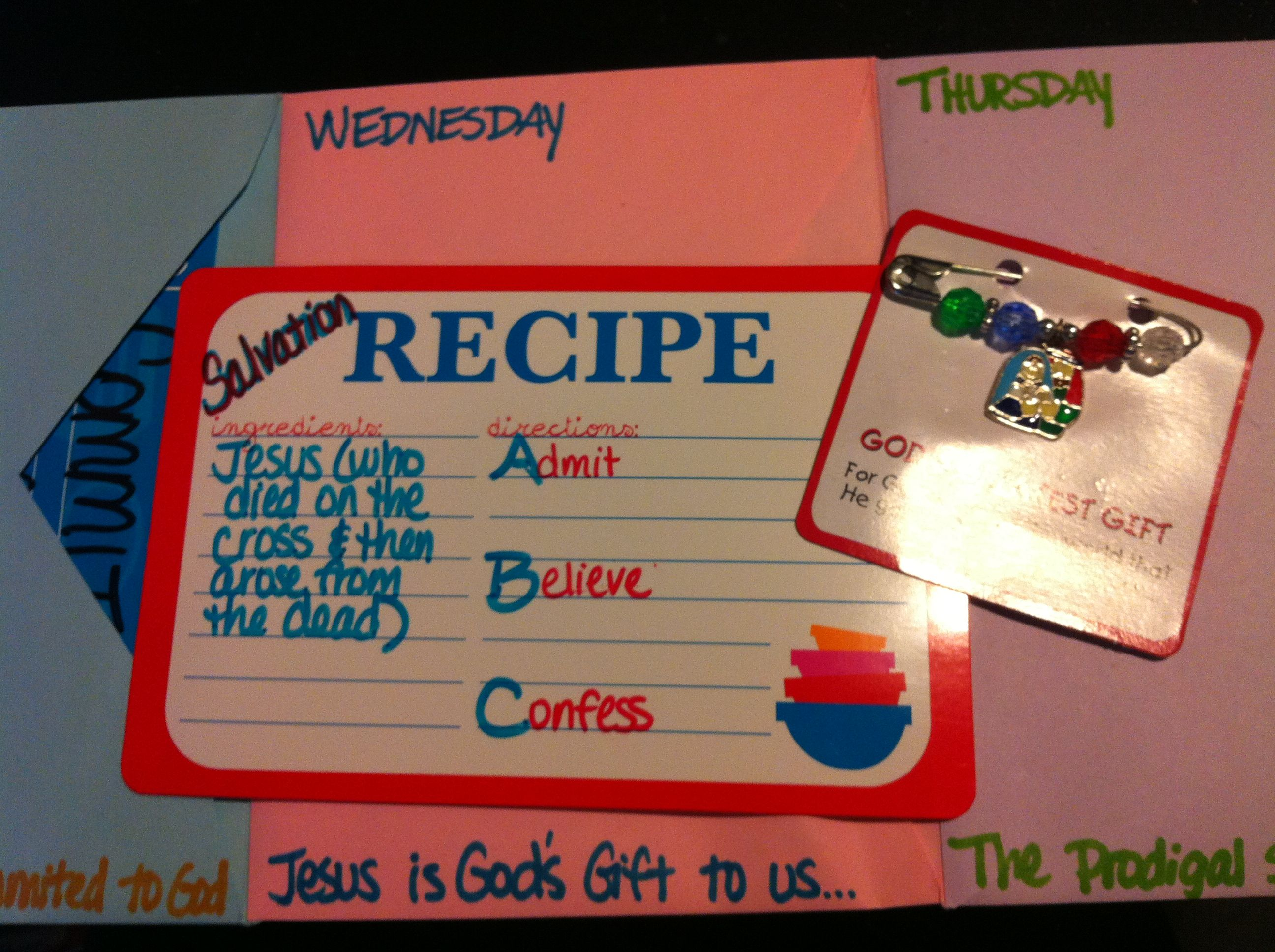 Day 3 Recipe Card For Our Envelope Accordion Book Abc S
