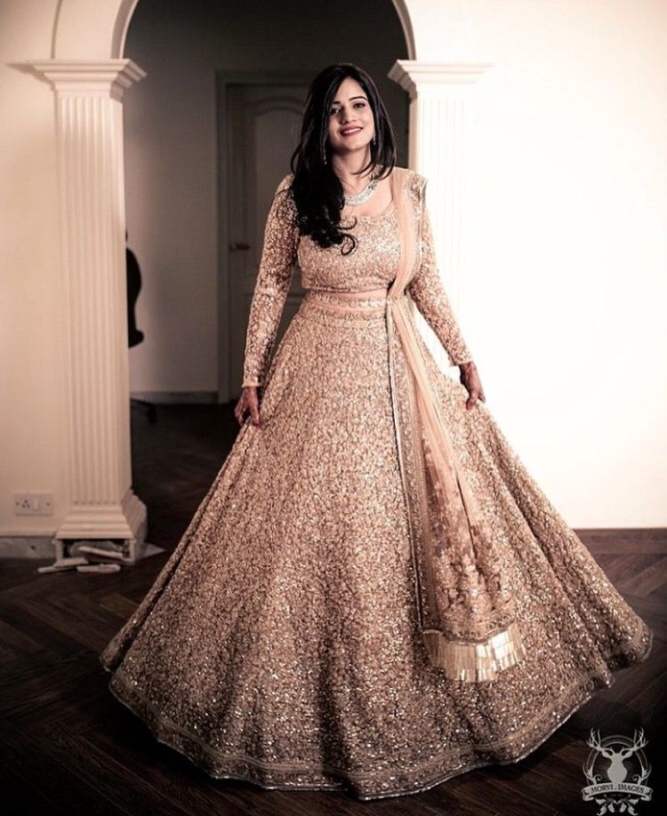 Beautiful rose gold lehenga