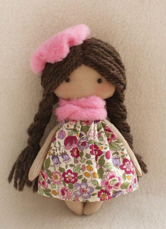 Diy Kit Rag Doll Making Supplies Simple To Do Dolls Girl Fabric