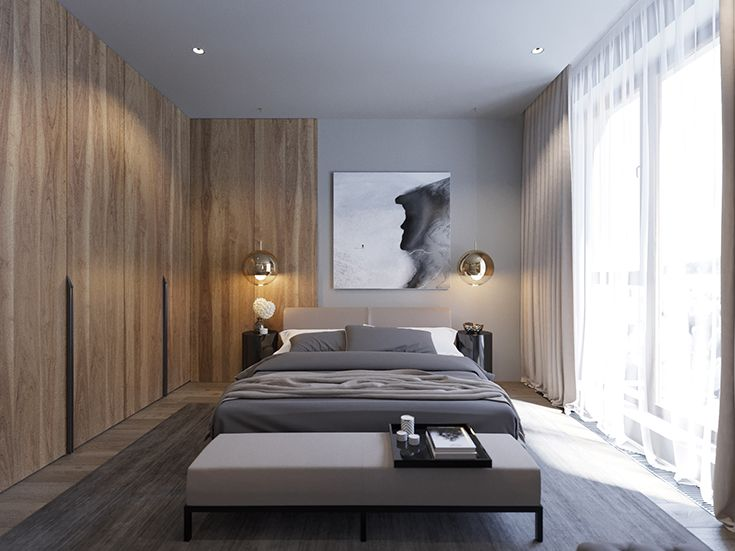 RED SIDE APARTMENT - Bedroom 3d-visualization | design by Ab-architects |  Moscow